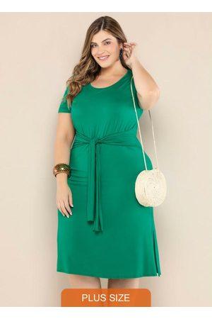 Vinculo Basic Vestido Plus Size com Amarração
