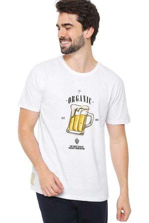 Eco Canyon Homem Manga Curta - Camiseta Masculina Beer White