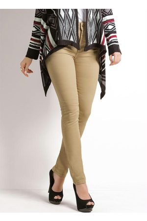 Janine Mulher Calça Skinny - Calça Skinny Cintura Alta