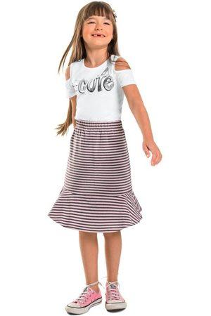 Quimby Menina Conjuntos - Conjunto Infantil Listras