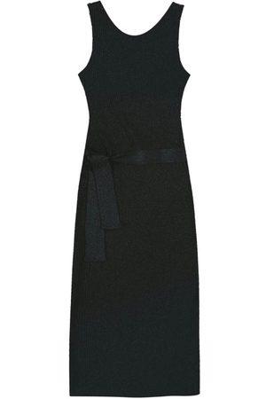 Malwee Mulher Vestido de Tricot - Vestido Mídi em Tricô