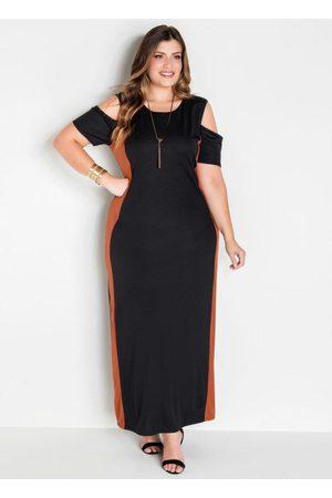 Marguerite Vestido Longo Bicolor Plus Size