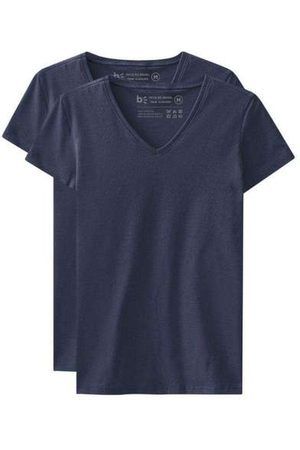 Basicamente Kit de 2 Camisetas Babylook Básicas Gola V