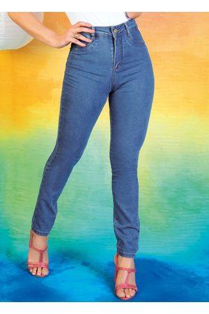 Sawary Jeans Calça Jeans Claro Skinny 360º com Cinta Sawary