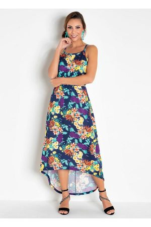 QUEIMA ESTOQUE Mulher Vestido Estampado - Vestido Floral Modelo Mullet