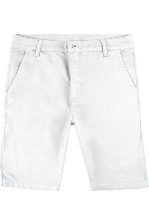Malwee Bermuda Branca Slim em Sarja Masculina