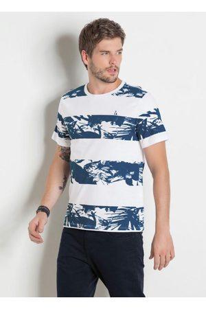 QUEIMA ESTOQUE Homem Manga Curta - Camiseta Actual Estampada com Decote Redondo
