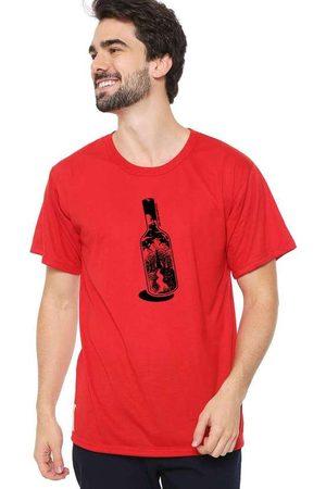 Eco Canyon Homem Manga Curta - Camiseta Masculina Garrafa Vermelha Red