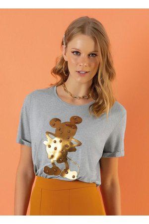 Disney Mulher Camiseta - Blusa com Bordado