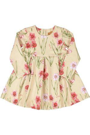 Up Baby Menina Vestido Longo - Vestido Inverno Manga Longa Flores