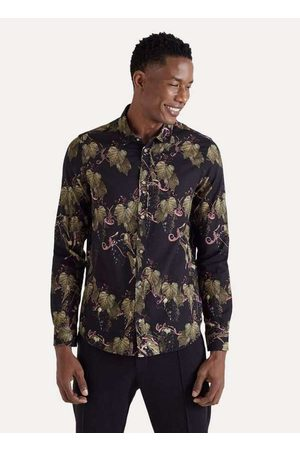 Reserva Homem Camisa Casual - Camisa Ml Estampada Vinha