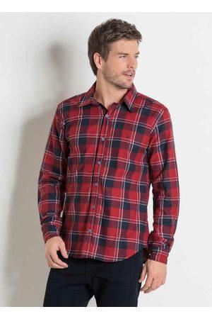 Actual Homem Camisa Casual - Camisa em Flanela Xadrez