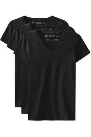 Basicamente Kit de 3 Camisetas Babylook Básicas Gola V