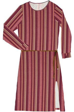 Rovitex Mulher Vestido Estampado - Vestido Midi Feminino Listrado