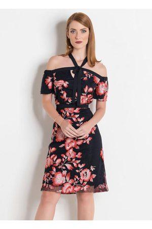Multimarcas Mulher Vestido Estampado - Vestido e Floral com Amarração