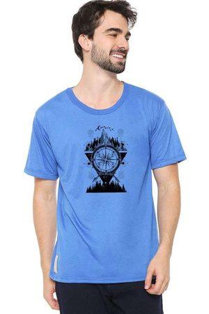 Eco Canyon Homem Manga Curta - Camiseta Masculina Bússola Blue