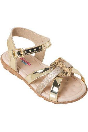 MOLEKINHA Menina Sandálias - Sandália Dourada com Palmilha Confort