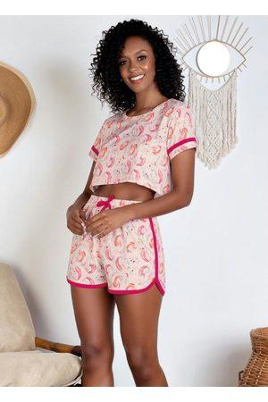 Alma Dolce Pijama com Blusa Cropped Unicórnio