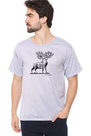 Eco Canyon Homem Manga Curta - Camiseta Masculina Cervo