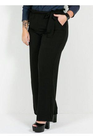 Mink Calça Pantalona Plus Size Preta