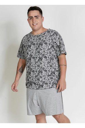 Alma Dolce Pijama Estampado Caveira Mescla