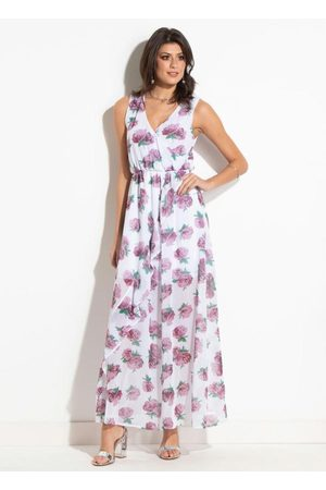 QUEIMA ESTOQUE Mulher Vestido Estampado - Vestido Floral sem Mangas