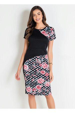 ROSALIE Vestido Tubinho e Poá Moda Evangélica