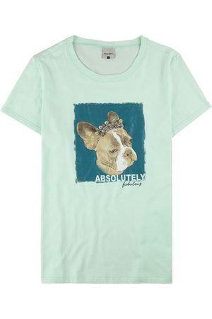 Malwee Mulher Camiseta - Blusa Estampada com Aplique