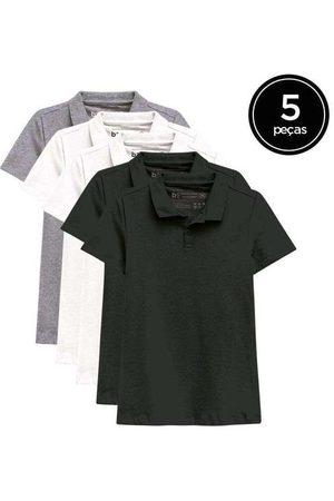 Basicamente Mulher Camisa Formal - Kit de 5 Camisas Polo Femininas de Várias Cores Pr