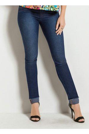 Janine Calça Jeans Skinny com Bolsos Franzidos