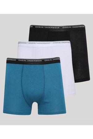 ANGELO LITRICO Kit de 3 Cuecas Masculinas Boxer Multicor
