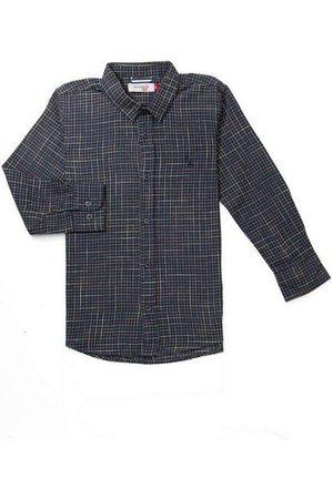 Reserva Mini Menino Camisa Manga Comprida - Camisa Mini Pf Ft Xadrez Bicolor