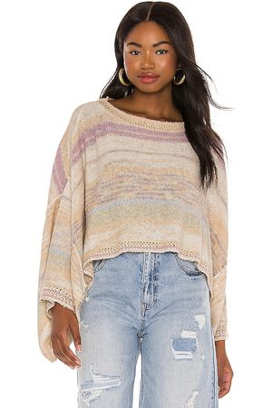Free People Saturn Poncho in Orange. - size S (also in L, M, XS)