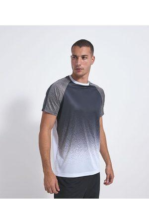 Get Over Camiseta Esportiva Comfort Estampada com Detalhe nas Mangas       M