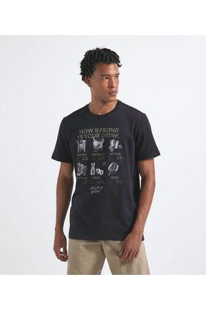 Marfinno Homem Manga Curta - Camiseta com Estampa Dinks       GG