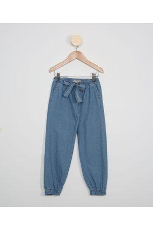 PALOMINO Menina Calça Jogger - Calça Jeans Infantil Jogger com Laço Médio