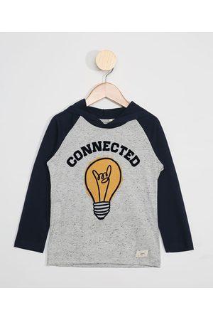 "PALOMINO Camiseta Infantil Raglan Manga Longa Connected"" com Capuz """