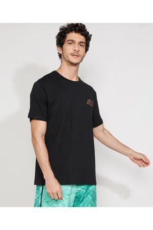 """Suncoast Camiseta Masculina Manga Curta Gola Careca Sunrise Beach"""" Preta"""""""
