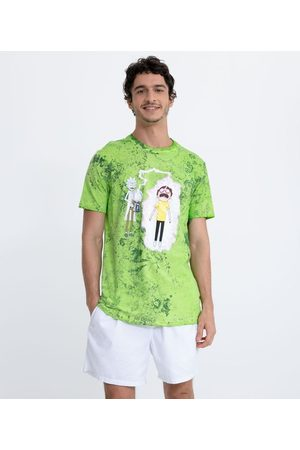 Rick and Morty Homem Manga Curta - Camiseta Tie Dye Estampa       GG