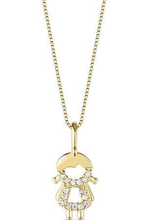 Vivara Pingente Menina Ouro Amarelo e Diamantes 10 mm