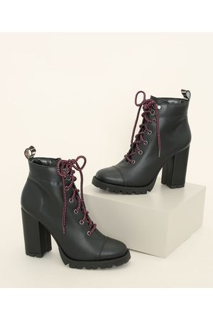 Oneself Mulher Sapato Alto - Coturno Feminino Tratorado Salto Alto