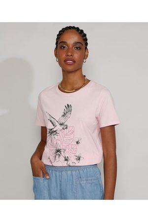 YESSICA Mulher Camiseta - Camiseta Feminina Manga Curta Arara Decote Redondo Claro