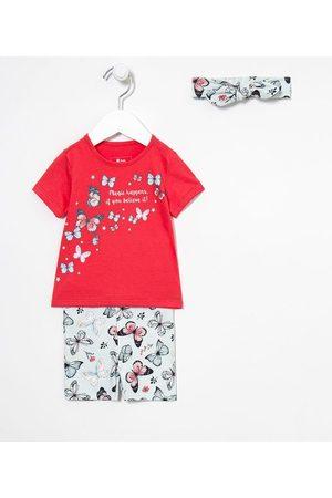 Teddy Boom (0 a 18 meses) Criança Conjuntos - Conjunto Infantil Borboletas - Tam 0 a 18 meses     Multicores   3-6M