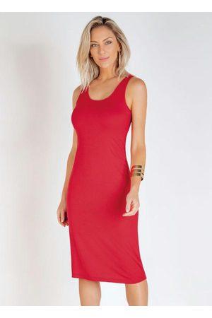 Miss Masy Vestido Midi com Decote Redondo