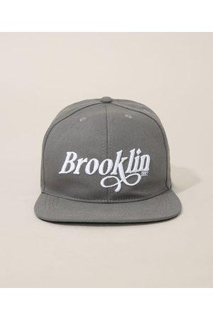 """C&A Homem Chapéus - Boné Masculino Aba Reta com Bordado Brooklin"""" """""""