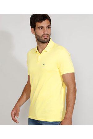 Basics Homem Camisa Pólo - Polo Masculina Básica Comfort Manga Curta Claro