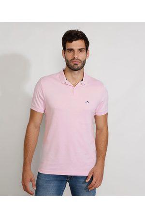 Basics Homem Camisa Pólo - Polo Masculina Básica Comfort Manga Curta Claro 1