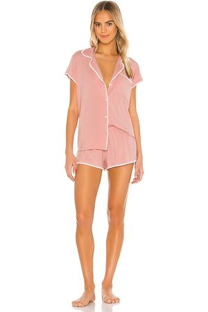 eberjey Frida Whip Stitch Short PJ Set in Pink. - size L (also in M, S)