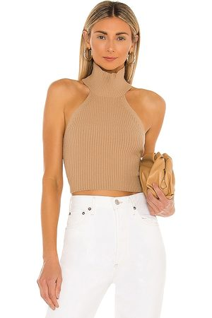 House of Harlow 1960 X REVOLVE Heather Halter Top in Nude. - size L (also in M, S, XL, XS, XXS)