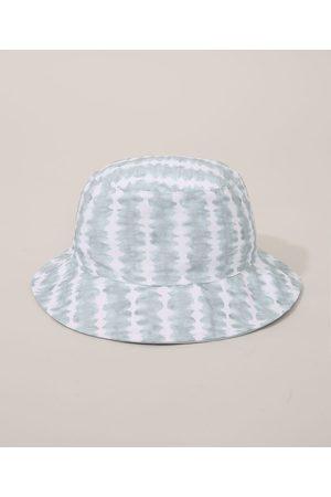 C&A Bucket Hat Feminino Tie Dye Dupla Face Verde